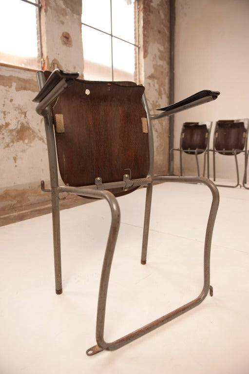 Dutch 12 Sjoerd Schamhart architectural chairs The Hague 1953 For Sale