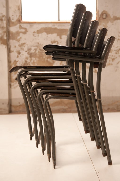 12 Sjoerd Schamhart architectural chairs The Hague 1953 In Good Condition For Sale In bergen op zoom, NL