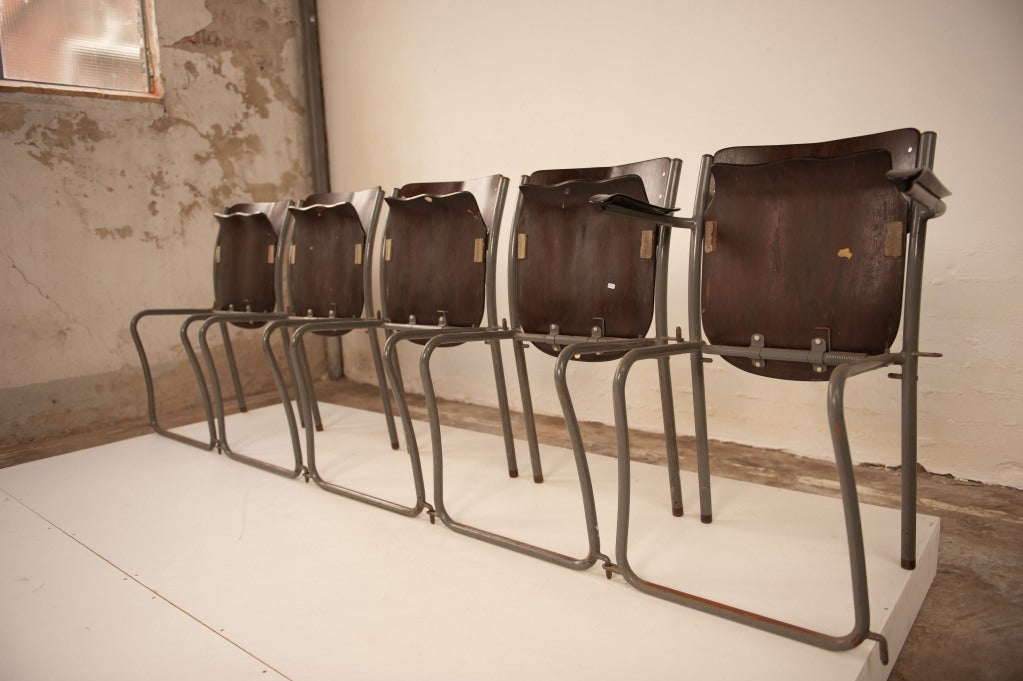 Mid-20th Century 12 Sjoerd Schamhart architectural chairs The Hague 1953 For Sale
