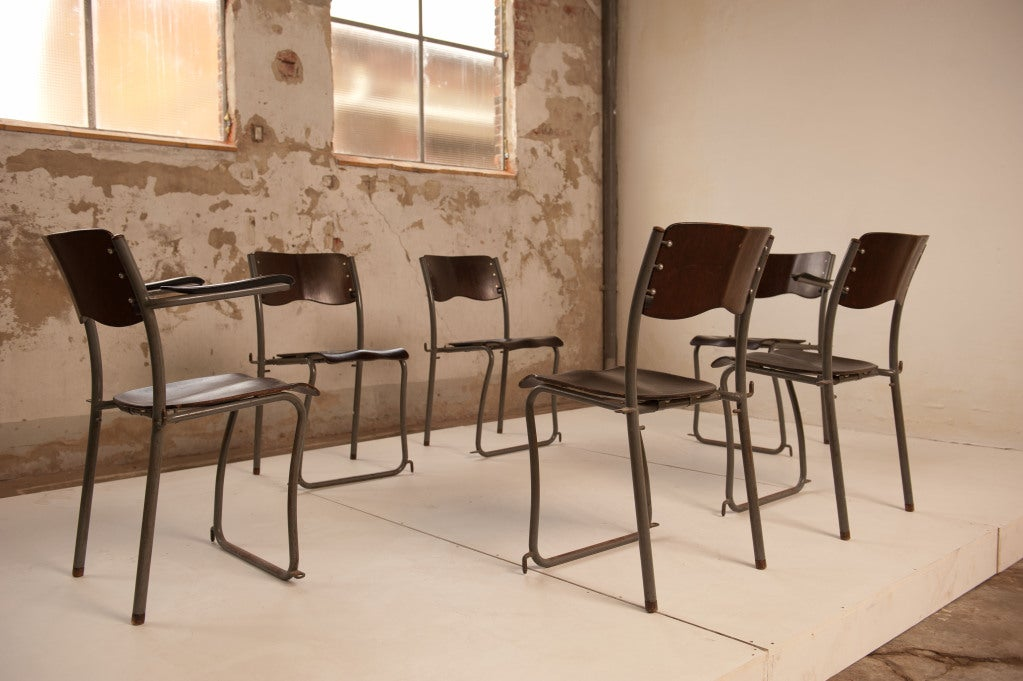 12 Sjoerd Schamhart architectural chairs The Hague 1953 For Sale 1