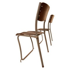 12 Sjoerd Schamhart architectural chairs The Hague 1953