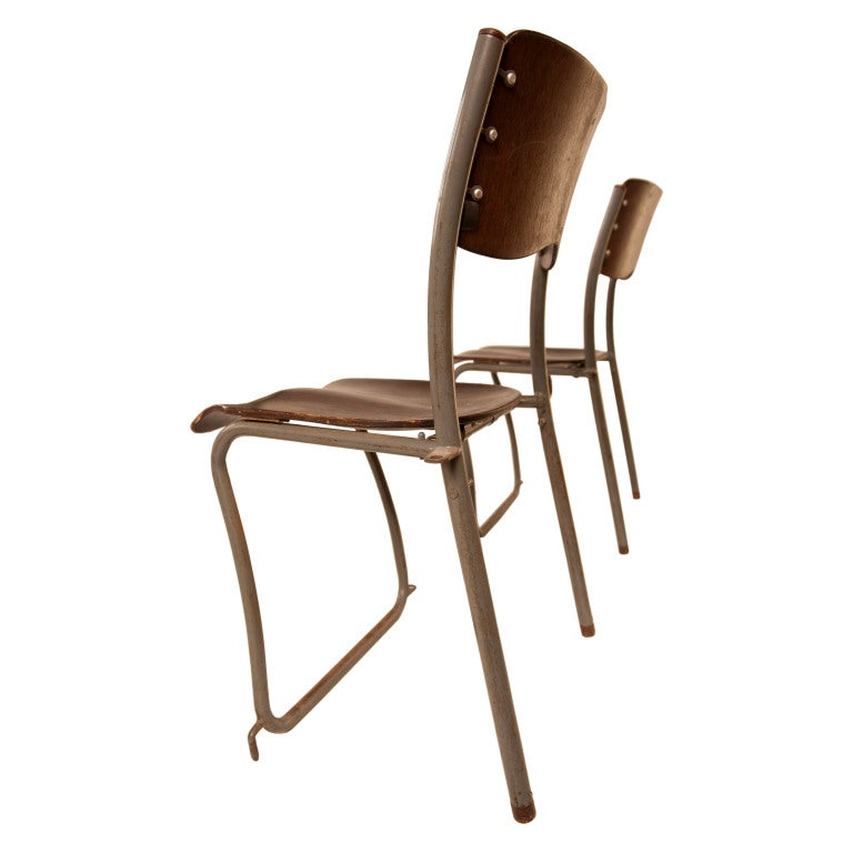 12 Sjoerd Schamhart architectural chairs The Hague 1953 For Sale