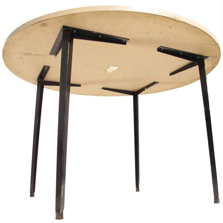 1964 Rare Friso Kramer Coffee Table For Ahrend De Cirkel: Friso Kramer Rare Round ''Reform'' Dining Table Ahrend De