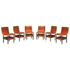 Six Beautiful 'Chelsea' Dining Chairs by Introini, Saporiti, 1966