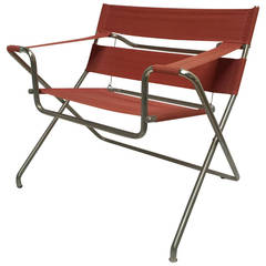 Marcel Breuer D4 Foldable Easy Chair Purchased in 1968, Tecta, Germany