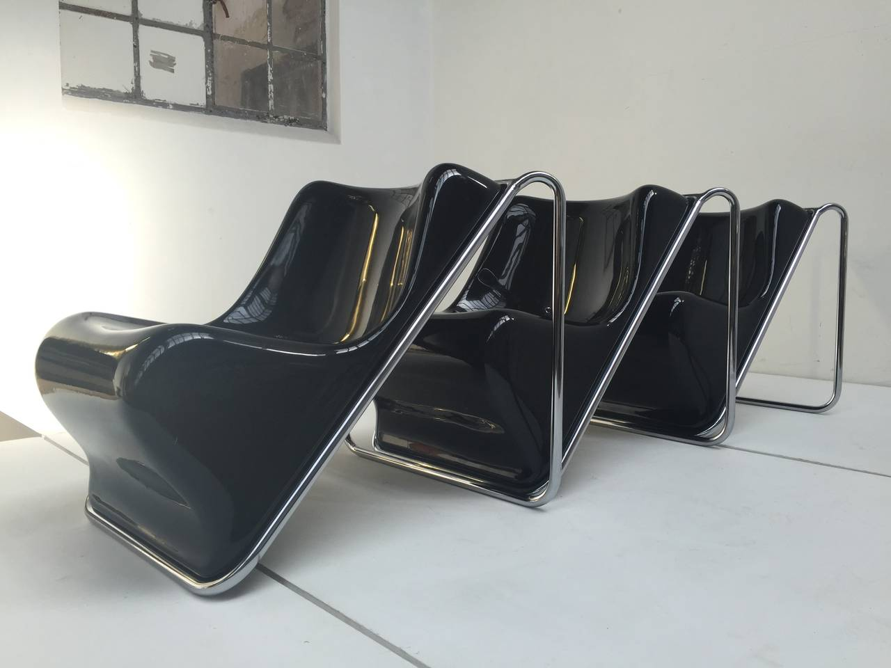 P110 Lounge Chairs by Rosselli, Partner of Gio Ponti, Exhibited at MoMA, NY 8
