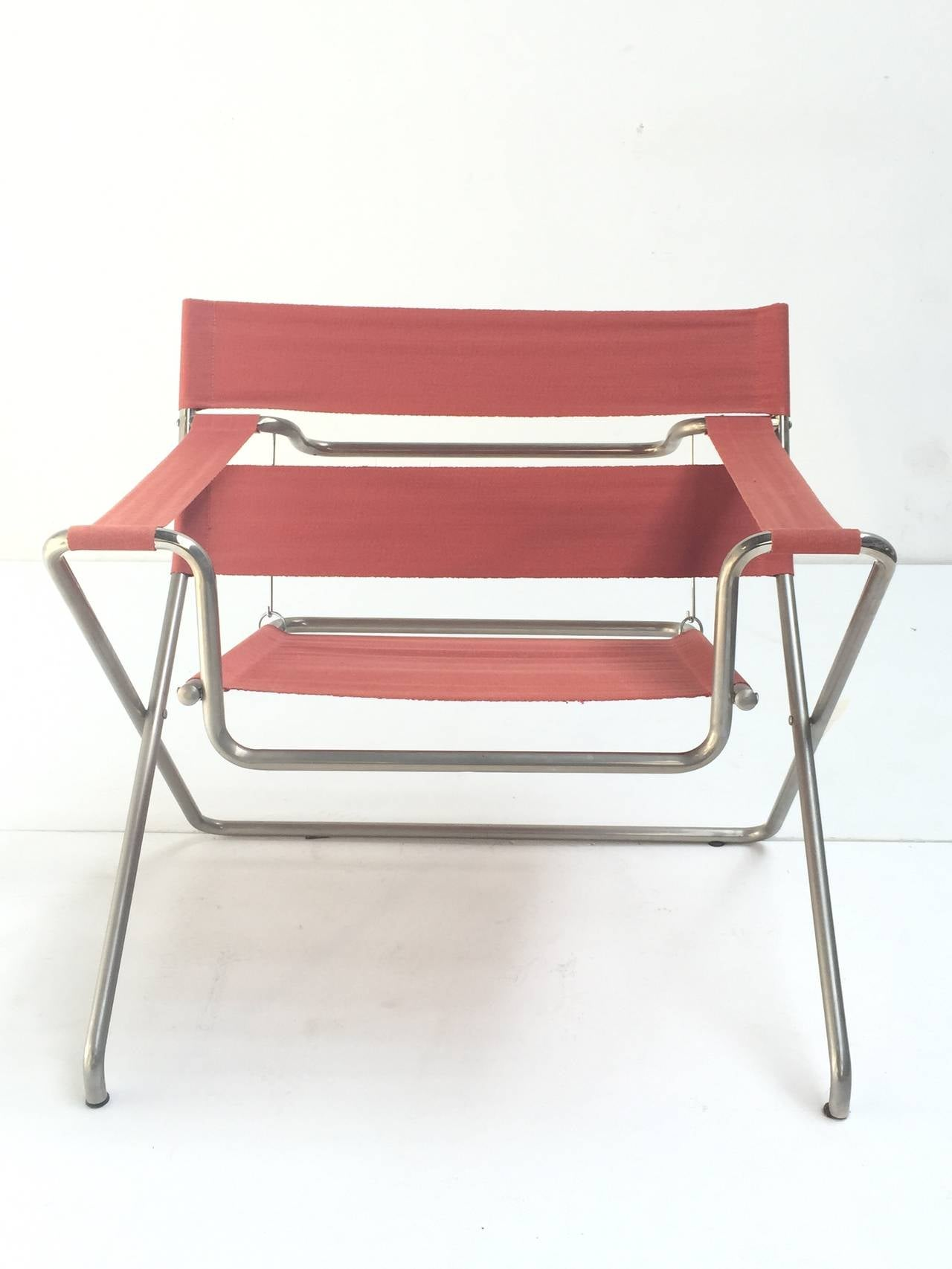 Marcel Breuer D4 Foldable Easy Chair Purchased in 1968 Tecta