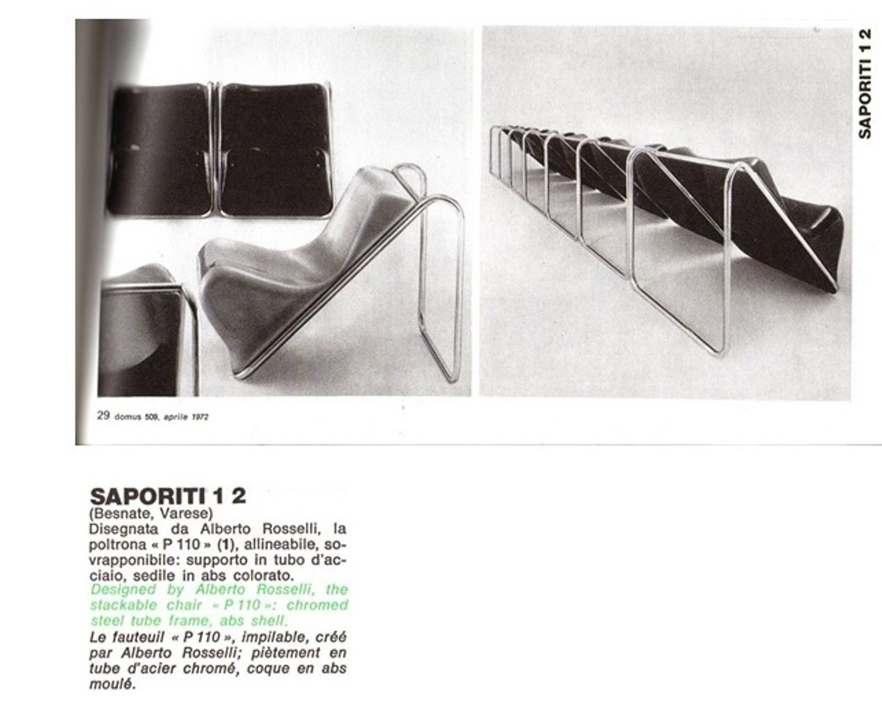 P110 Lounge Chairs by Rosselli, Partner of Gio Ponti, Exhibited at MoMA, NY 6