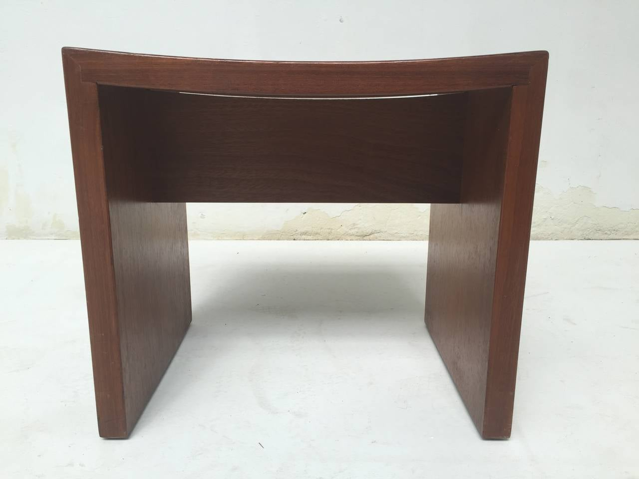 Unique Set of Solid Mahogany Church Seats by Dutch Architect Harry Nefkens, 1963 For Sale 1