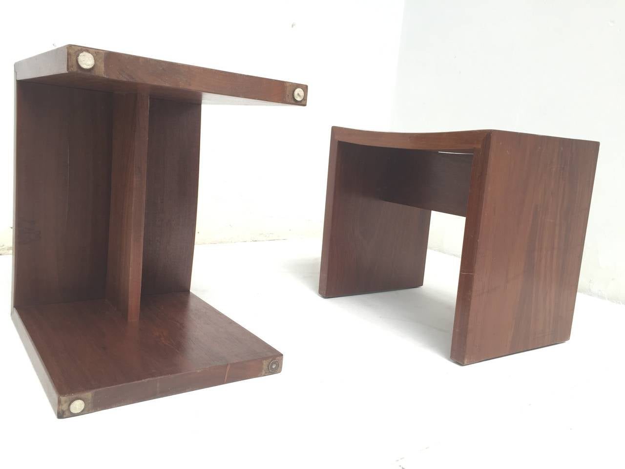 Unique Set of Solid Mahogany Church Seats by Dutch Architect Harry Nefkens, 1963 For Sale 2