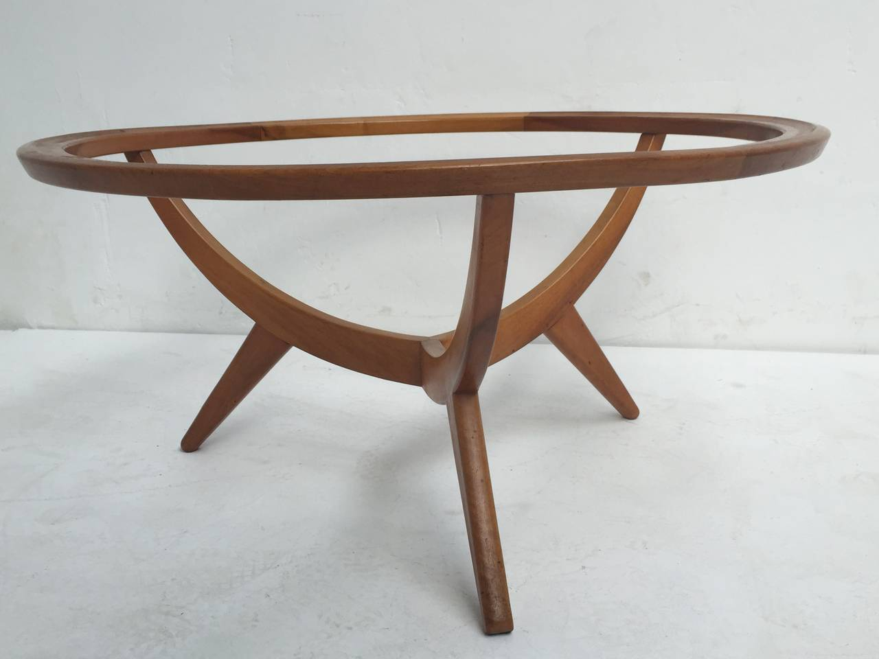 1950s Organic Tripod Coffee Table Attributed To Cesare Lacca Italy At 1stdibs
