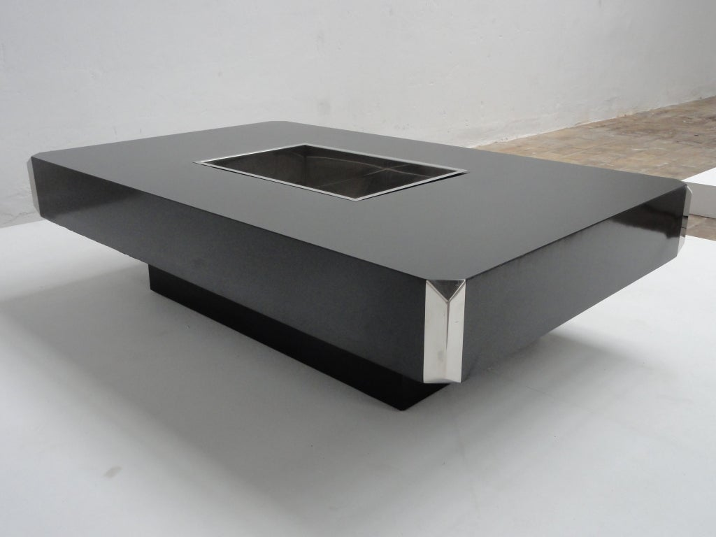Willy rizzo alveo coffee table published in casa vogue for Table willy rizzo