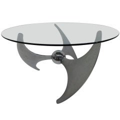 Sculptural ,adjustable height table by L.Campanini, Italy,1973