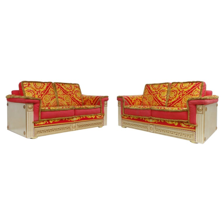 Gianni versace pair of divani by atelier versace 1980 39 s at Versace sofa