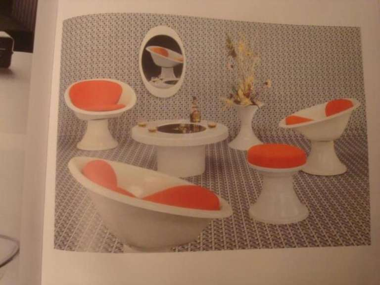 Super Rare 'Mecurio' Chairs by French Artist Claude Courtecuisse, Steiner, 1967 For Sale 5