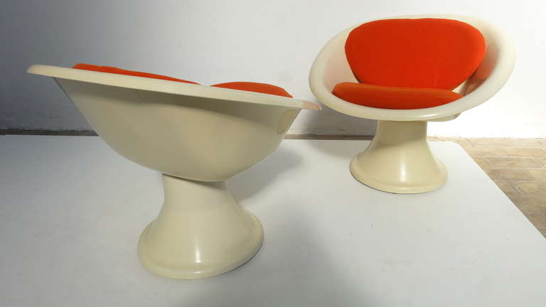 Super Rare 'Mecurio' Chairs by French Artist Claude Courtecuisse, Steiner, 1967 For Sale 1