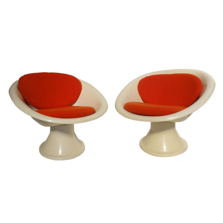 Super Rare 'Mecurio' Chairs by French Artist Claude Courtecuisse, Steiner, 1967 For Sale