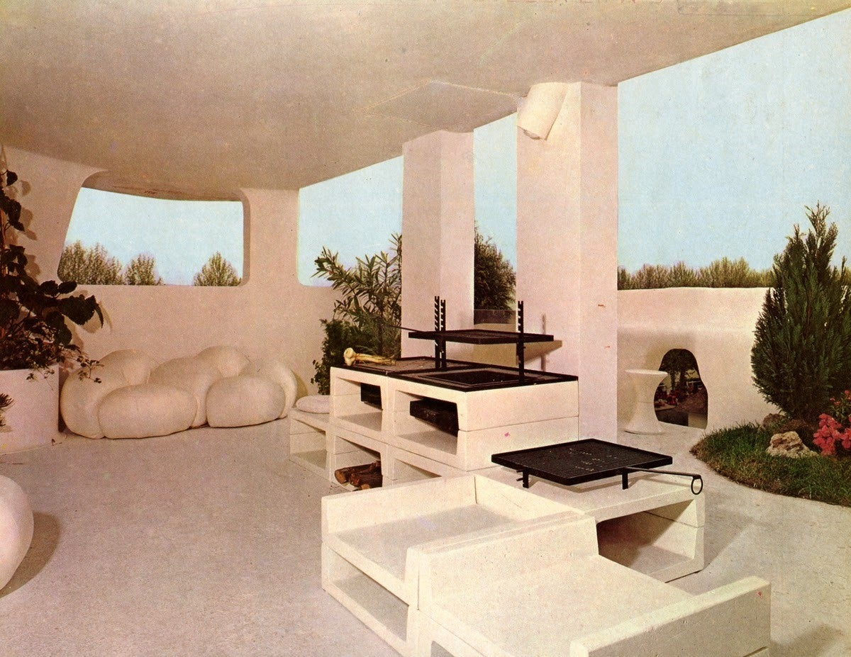 superb published lounge set christian adam for espace pierre cardin paris 1970 at 1stdibs. Black Bedroom Furniture Sets. Home Design Ideas