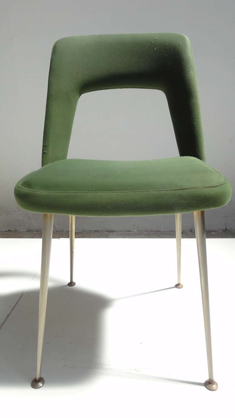 Six As Found French Dining Chairs In The Style Of Arflex And Augusto Bozzi Fo