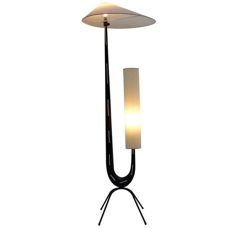 Stunning Sculptural Lamp By Rispal, France 1950 Black ...
