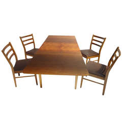 Cees Braakman for Pastoe Extendable Dining Table - Teak, Plywood, Leather Chairs
