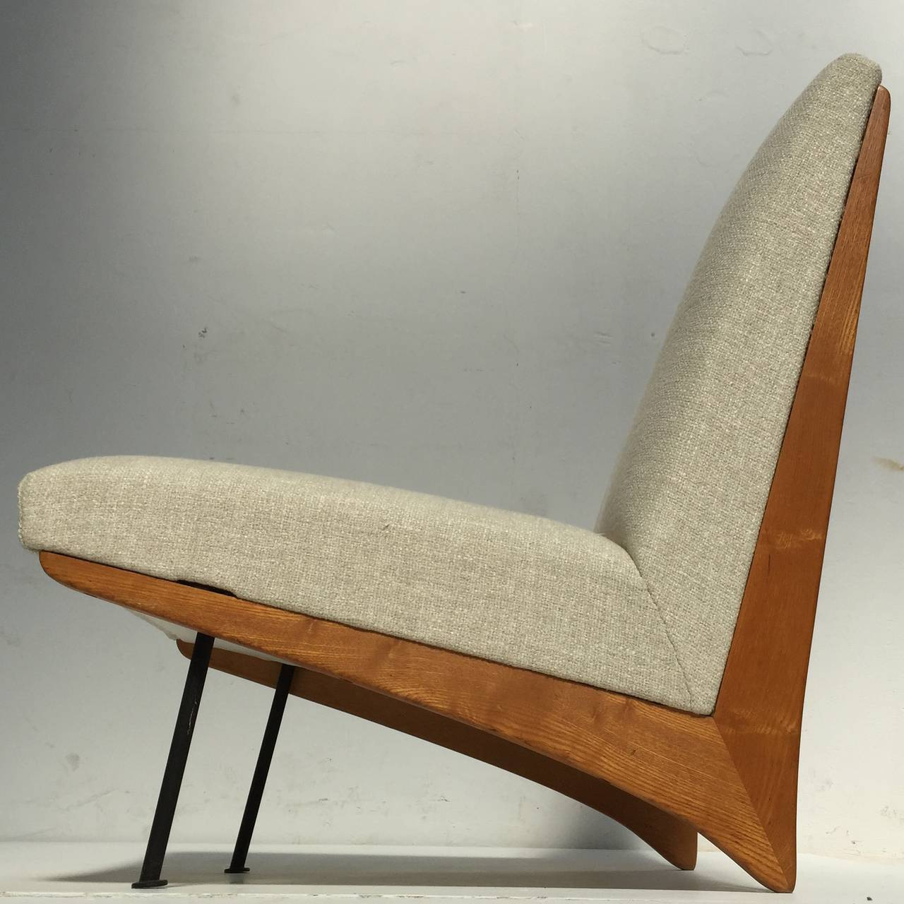 Stunning Sculptural Form French U0027Kangourouu0027 Style Lounge Chair Circa  1948 52 , Very