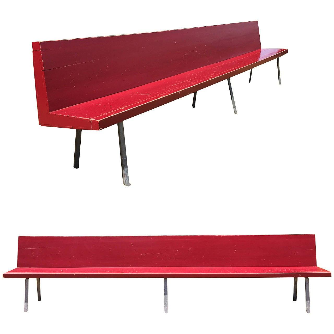 Monumental Custom Ordered Bench by Benedictus & Architect Dom Hans van der Laan For Sale