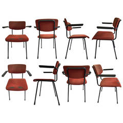 Big Lot Gispen 1236 Armchairs Produced in 1960 for a Dutch University