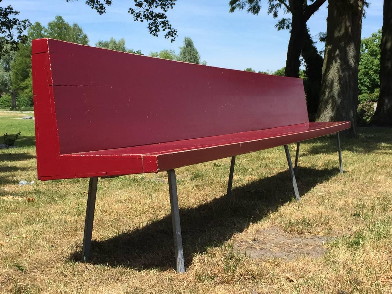 Minimalist Monumental Custom Ordered Bench by Benedictus & Architect Dom Hans van der Laan For Sale
