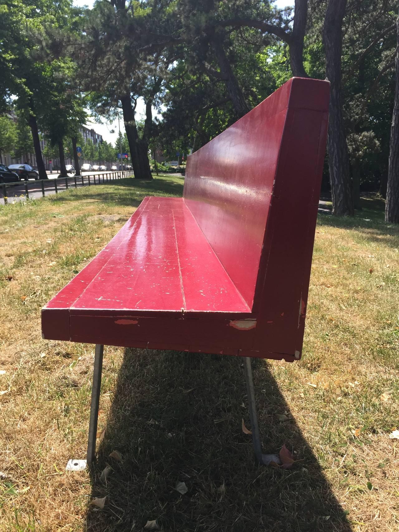 Monumental Custom Ordered Bench by Benedictus & Architect Dom Hans van der Laan For Sale 1