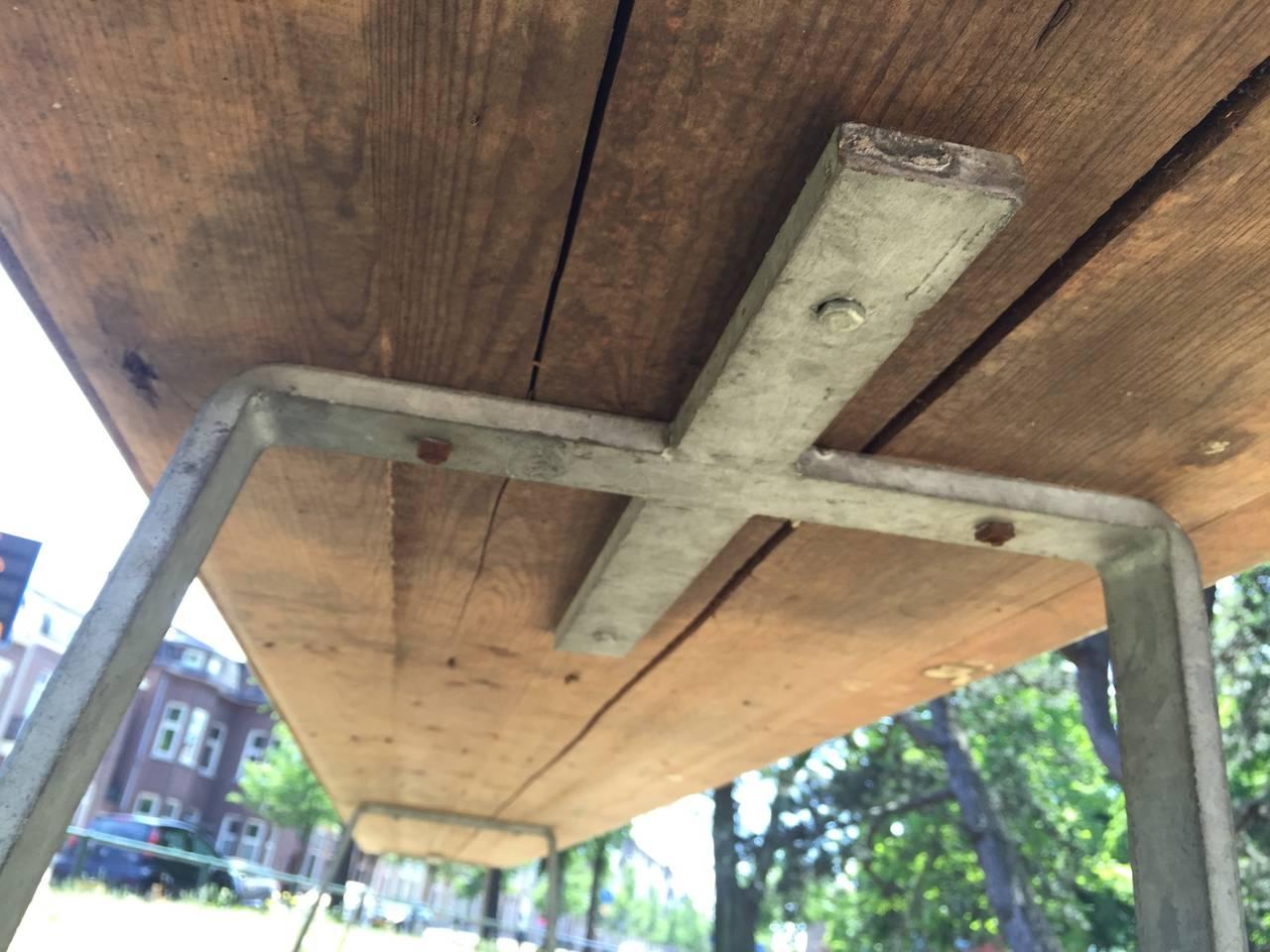 Metal Monumental Custom Ordered Bench by Benedictus & Architect Dom Hans van der Laan For Sale
