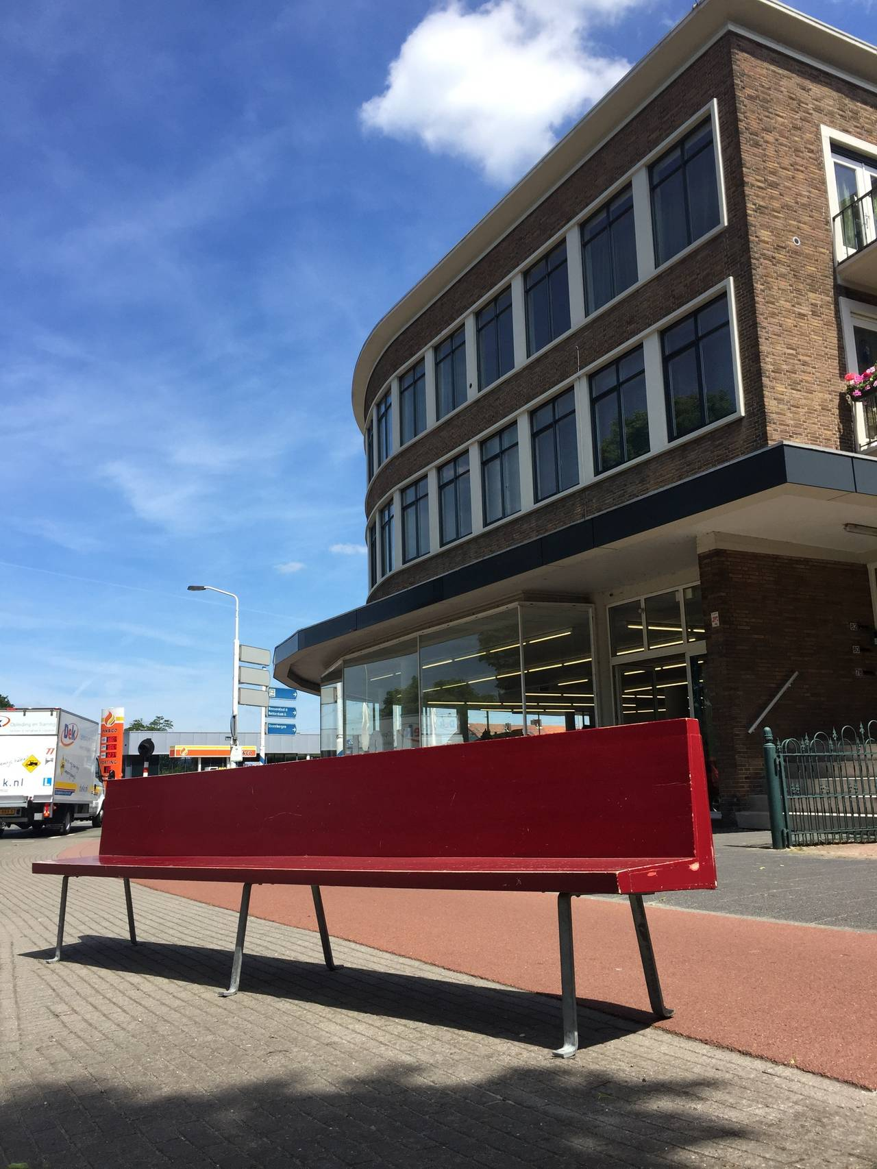 Lacquered Monumental Custom Ordered Bench by Benedictus & Architect Dom Hans van der Laan For Sale