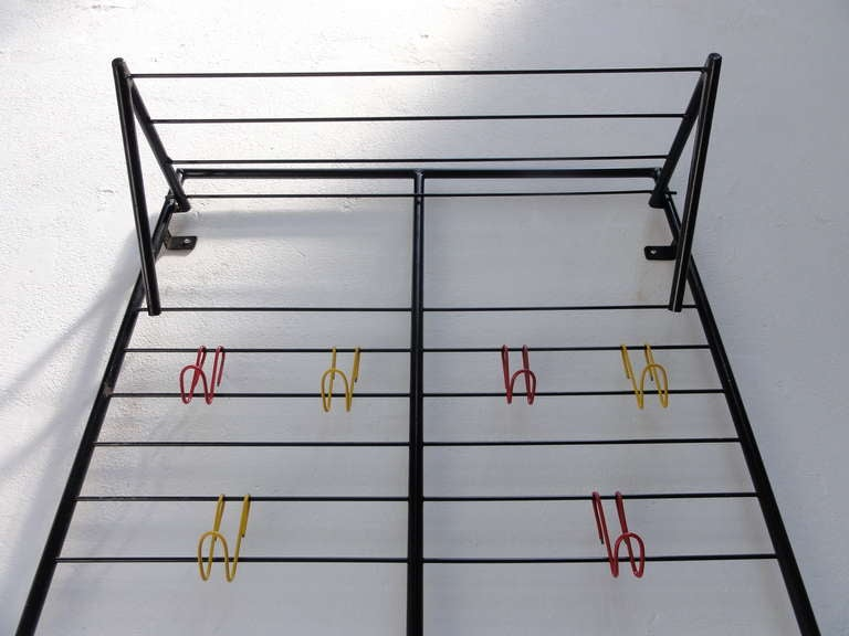 Extremely early 1st edition 'bent wire hook' 1954 Coen de Vries' coat rack with For Sale 1