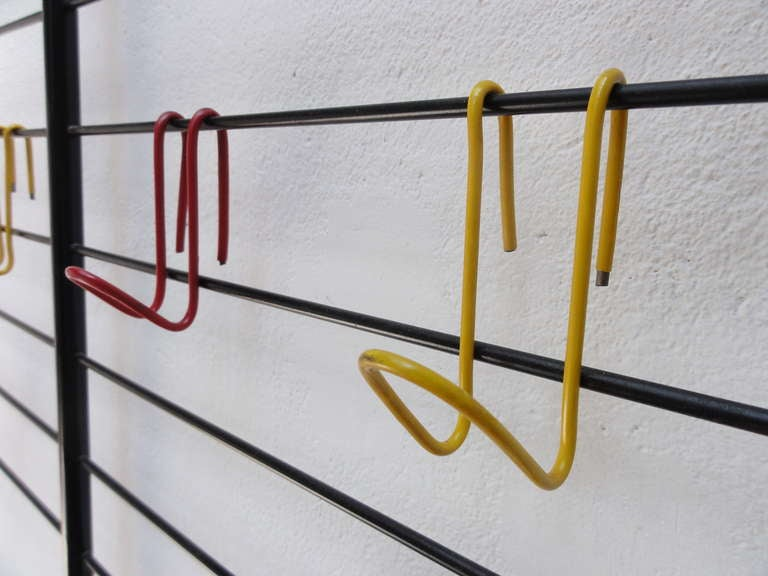 Mid-20th Century Extremely early 1st edition 'bent wire hook' 1954 Coen de Vries' coat rack with For Sale