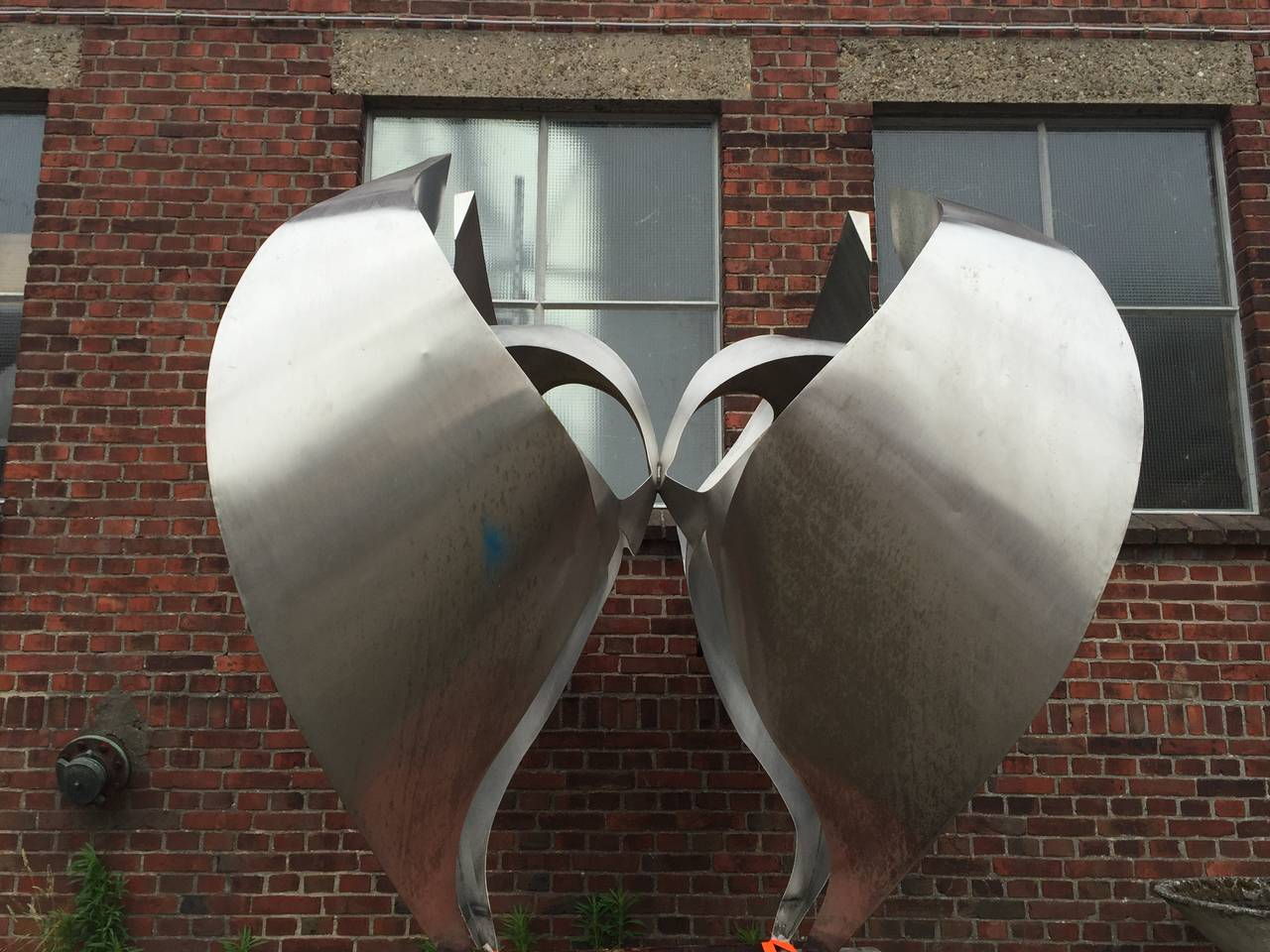 Monumental Inox Sculpture by Dutch Artist Diet Wiegman, circa 1970 For Sale 5