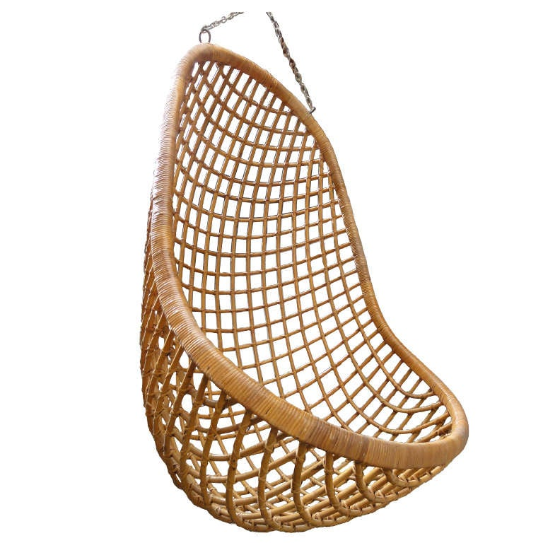 Perfect Rattan Hanging Chair Rohe Noordwolde The Netherlands 1960u0027s 1