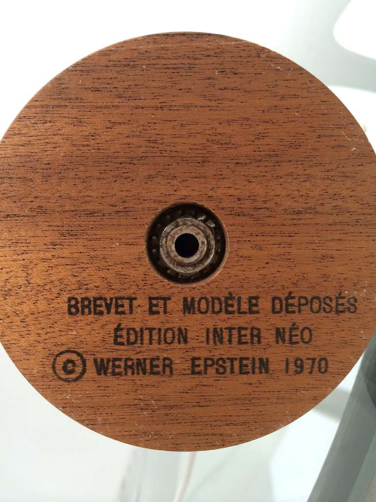 Important Werner Epstein Lamp, Signed, Exhibited Salon Des Artistes, Paris, 1972 For Sale 2