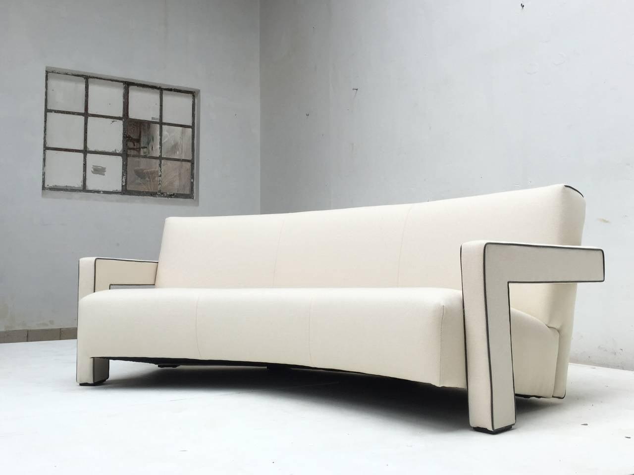 Stunning de stijl gerrit rietveld utrecht 39 sofa cassina circa 1988 at 1stdibs - Sofa stijl jaar ...