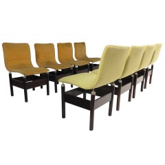 Eight 'Chelsea' Rosewood Chairs, Vittorio Introini for Saporiti, Italy, 1966