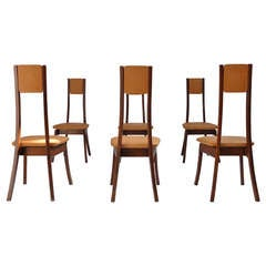 6 Angelo Mangiarotti S11 dining chairs,  Sorgente dei Mobili, Italy 1972