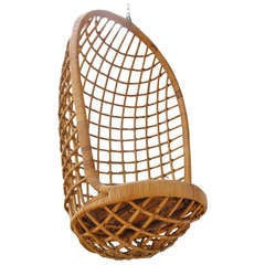 1960's Rohe cane hanging chair Noordwolde, The Netherlands