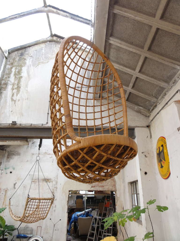 1960 S Rohe Cane Hanging Chair Noordwolde The Netherlands
