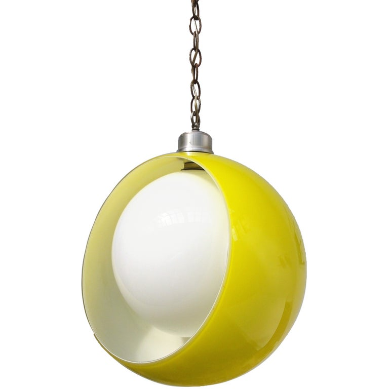 """Space Age 1960s Italian """"Eclisse"""" Pendant by Carlo Nason for Mazega, Italy For Sale"""