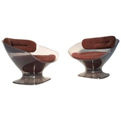 Pair of 1970s Armchairs by French Decorator Raphael, Published