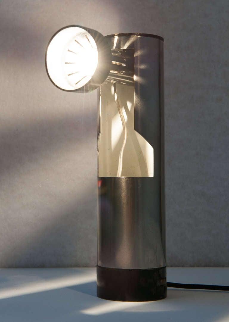 Italian Angelo Lelli Lamp, Rotating Light Source, Arredoluce, Rare Model, Original Label For Sale