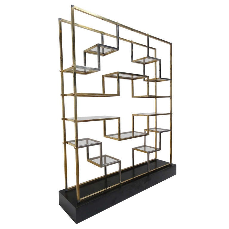 monumental geometric form etagere by romeo rega 1975 published in casa vogue at 1stdibs. Black Bedroom Furniture Sets. Home Design Ideas