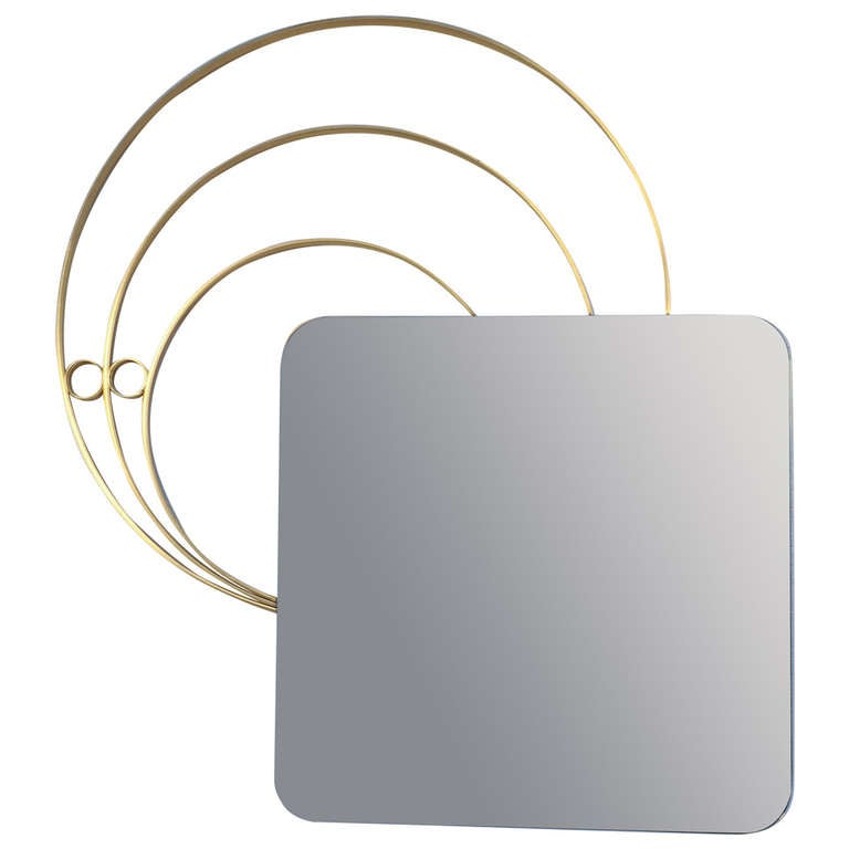 Stunning  1950s sculptural form mirror in the style of Osvaldo Borsani
