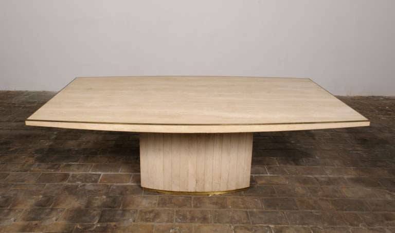 Exquisite Willy Rizzo dining set, signed and published in CASA VOGUE 5