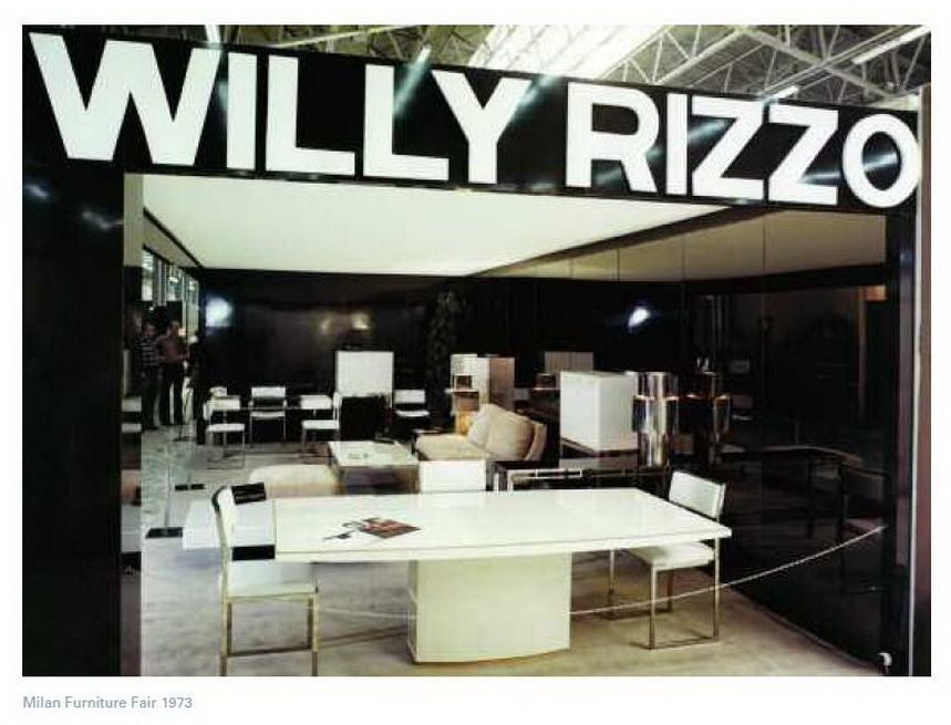 Exquisite Willy Rizzo dining set, signed and published in CASA VOGUE 3