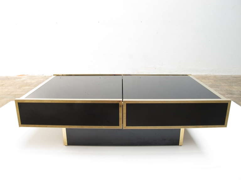 Superb  1975 Romeo Rega Table Glass Sliding Top With Internal Bar image 2